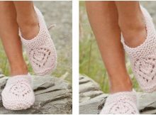 pretty Sally knitted slippers | the knitting space