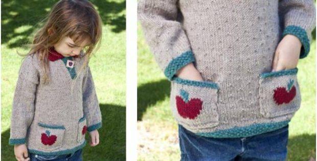 Pretty Apple Pie Knitted Sweater [FREE Knitting Pattern]