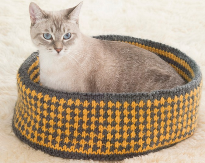 Knit Pretty Kitty Bed The Knitting E
