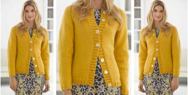 pretty knitted raglan cardigan | the knitting space