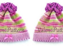 pretty 'n cheery knitted baby hat | the knitting space