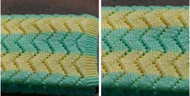 pretty simple knitted baby blanket | the knitting space