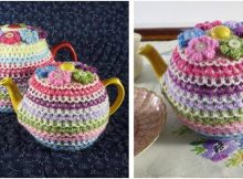pretty stripes knitted tea cosy | the knitting space