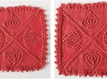 pretty wildrose knitted dishcloth | the knitting space