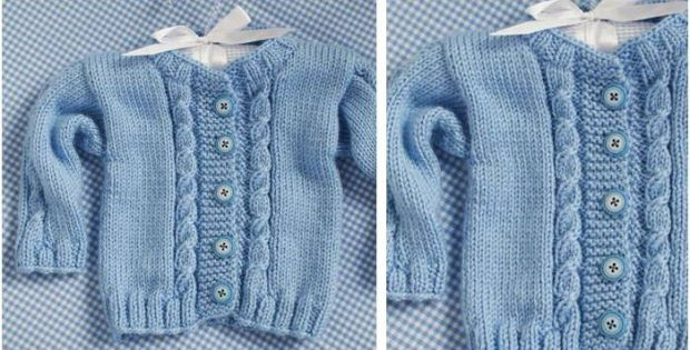 Prince Knitted Baby Cardigan Free Knitting Pattern
