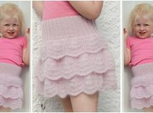princess puff knitted flounce skirt | the knitting space