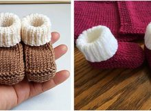 quick knitted newborn booties   the knitting space
