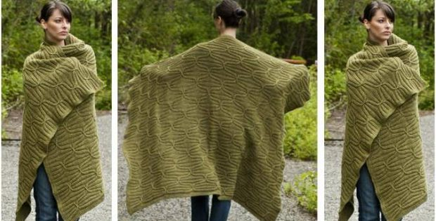 quilt 'n cable knitted blanket | the knitting space