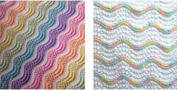 Pastel Rainbow Knitted Baby Blanket [FREE Knitting Pattern] New Free Knitting Patterns For Baby Blankets