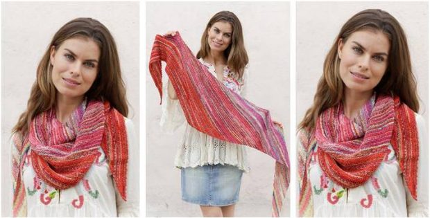 ravishing Rio knitted shawl | the knitting space
