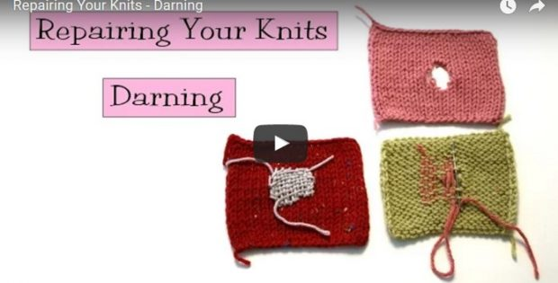 darn knits and repair holes | the knitting space