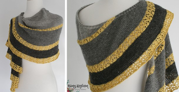 Restful Knitted Shawl With Lace Free Knitting Pattern