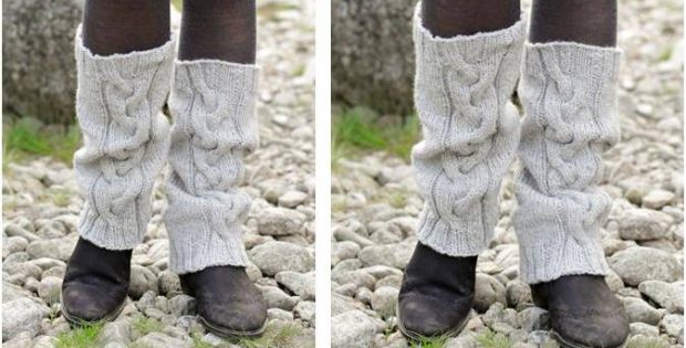 Retro Dance Knitted Leg Warmers Free Knitting Pattern