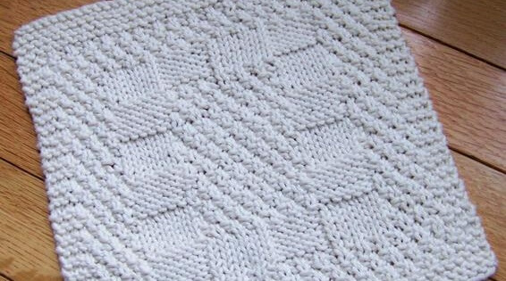 Knit Reversible Dishcloth Free Pattern