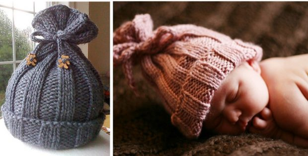 Adorable Rib Knitted Baby Hat Free Knitting Pattern