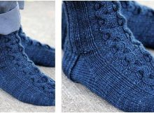 ribbon cable knitted socks | the knitting space