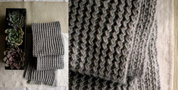 Stylish Rick Rack Knitted Scarf Free Knitting Pattern