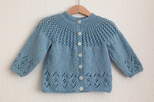 Rosabel Knitted Baby Cardigan Free Knitting Pattern