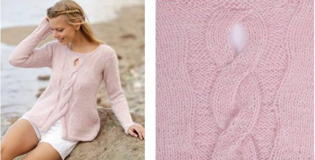 rose twist knitted sweater | the knitting space