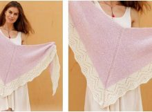 rosy Esmeralda knitted shawl | the knitting space