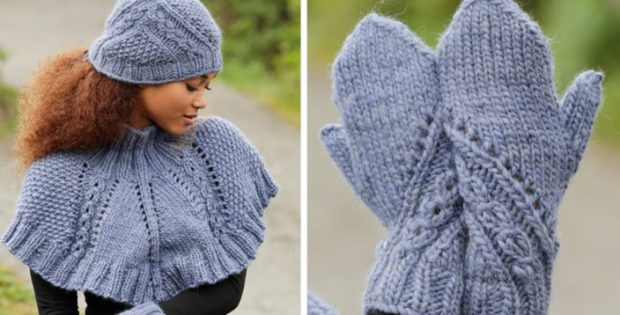 Royal embrace knitted cowl, hat and mittens | the knitting space