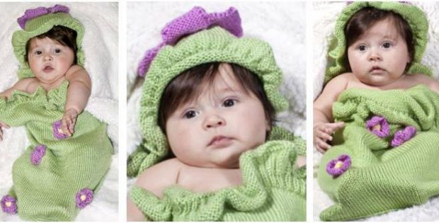 ruffles & posies knitted baby set | the knitting space