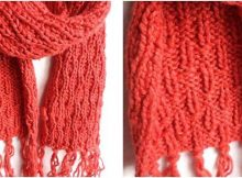 Ryelan knitted unisex scarf | the knitting space