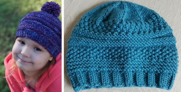 Simple Knitted Sample Hat Free Knitting Pattern
