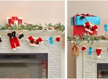 santa's wardrobe knitted garland   the knitting space