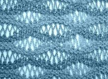 knitted sea foam stitch | the knitting space