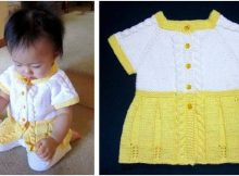seamless knit baby sweater dress   the knitting space