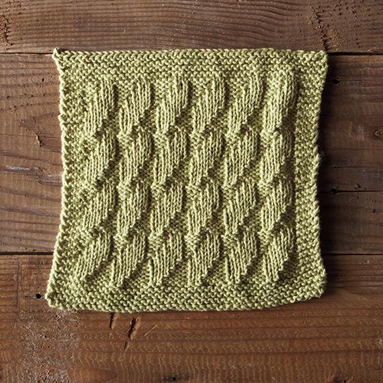 Knit Seaweed Dishcloth Free Pattern