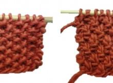 seed stitch vs moss stitch | the knitting space