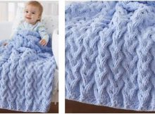 shadow cable knitted baby blanket | the knitting space