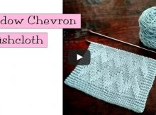 knitted shadow chevron dishcloth | the knitting space