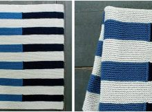 shadow stripe knitted baby blanket | the knitting space