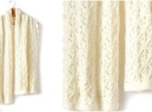 Shandeh's knitted cushy lace wrap | the knitting space