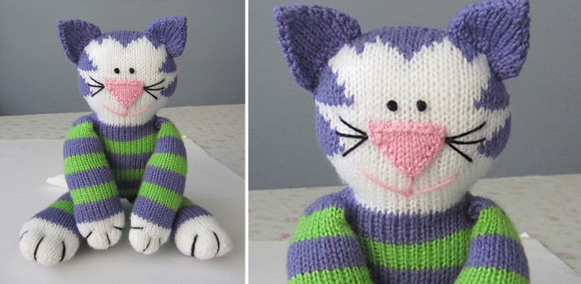 Share Kitty Knitted Soft Toy [FREE Knitting Pattern]