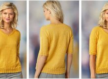 short sleeve knitted summer top | the knitting space