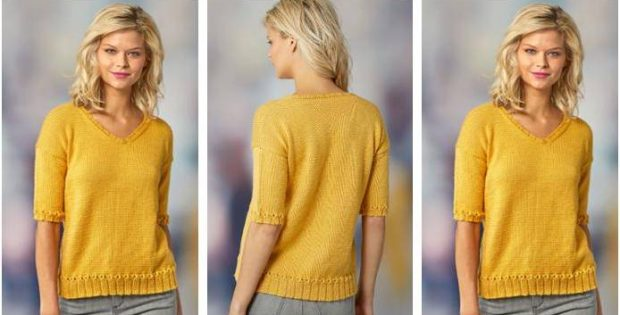 Short Sleeve Knitted Summer Top [FREE