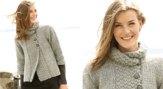 Silver Haze Knitted Jacket [FREE Knitting Pattern]