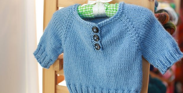 Simple Knitted Baby Pullover Free Knitting Pattern
