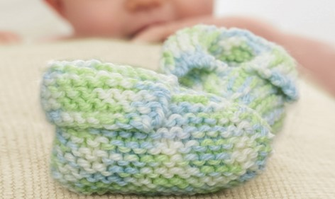 Knit Simple Baby Booties Free Pattern
