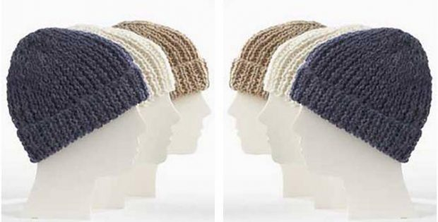 Simple Knit Family Toques Free Knitting Pattern
