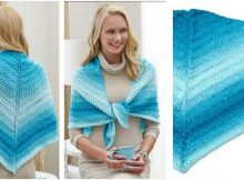 simple knit lace triangle shawl   the knitting space