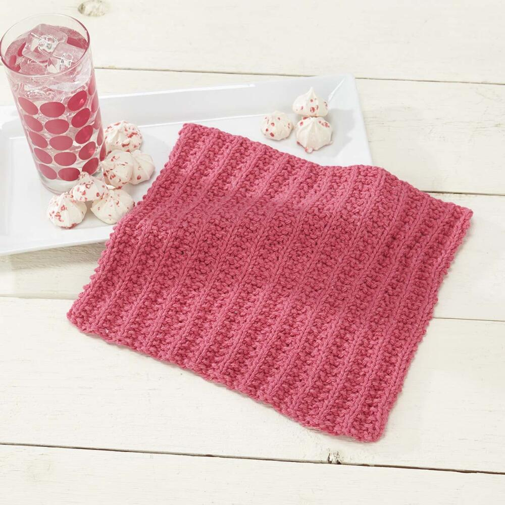 Simple Knit Sorbet Dishcloth [FREE Knitting Pattern]