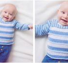 simple knitted baby sweater | the knitting space