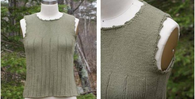 Simple Knitted Summer Top Free Knitting Pattern