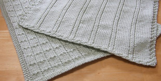 Simple Lines Knitted Baby Blankets Free Knitting Patterns
