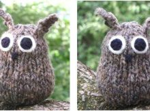 fun knitted simple little owl | the knitting space